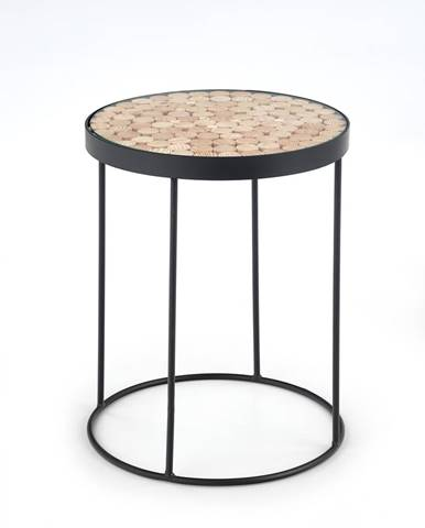 Naturo 2 okrúhly konferenčný stolík čierna