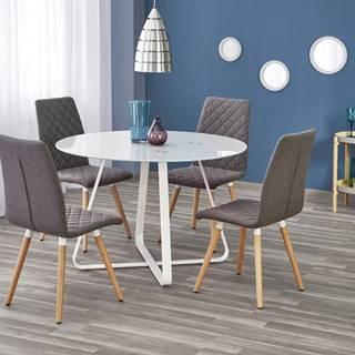 Looper okrúhly sklenený jedálenský stôl biela