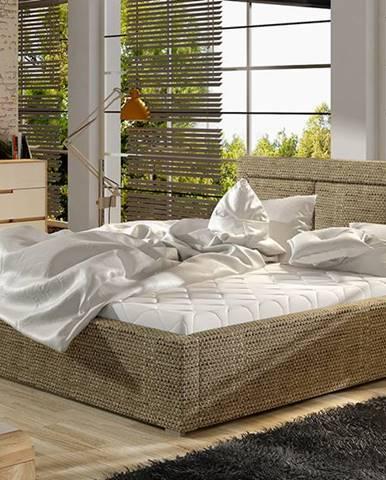 Branco 180 čalúnená manželská posteľ s roštom cappuccino