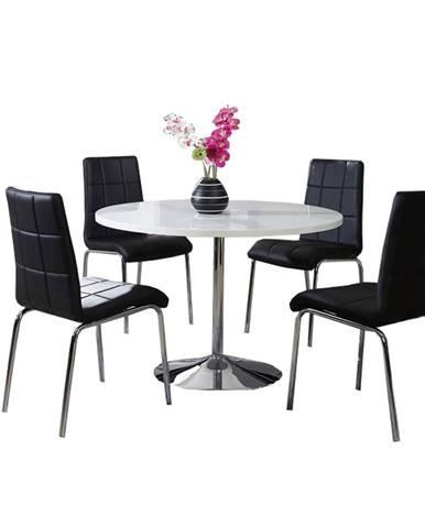 Paulin okrúhly jedálenský stôl chrómová