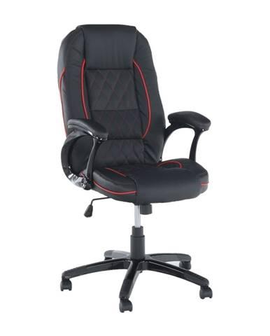 Porshe New kancelárske kreslo s podrúčkami čierna