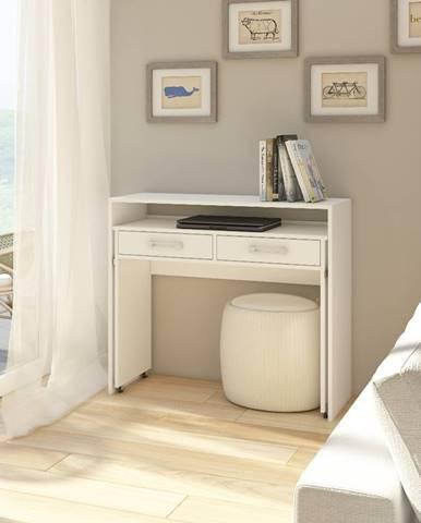 Zoom pc stolík biela