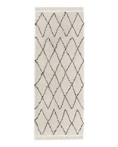 Krémovobiely behúň Mint Rugs Jade, 80x200cm