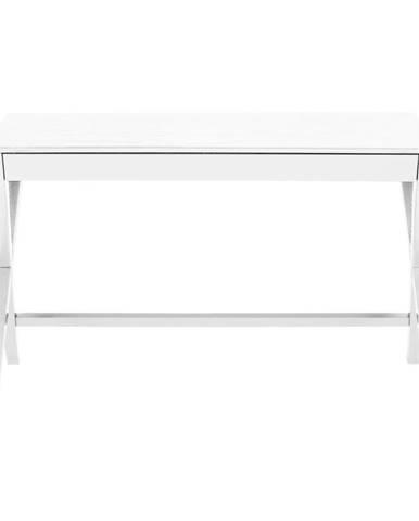 Biely písací stôl so zásuvkou Actona Writex