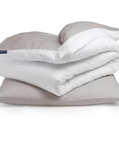 Sleepwise Soft Wonder-Edition, posteľná bielizeň, hnedosivá/biela, 135 x 200 cm, 80 x 80 cm