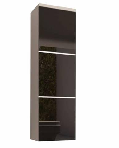 Skrinka vysoká biela/čierny extra vysoký lesk HG MASON BL11