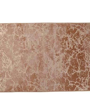 Moderný koberec béžová/zlatý vzor 140x200 RAKEL