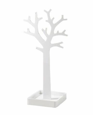 Stojan na šperky v tvare stromu Compactor – biely plast