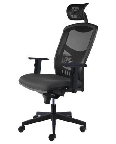Kancelárske kreslo FOSS čierna/sivá