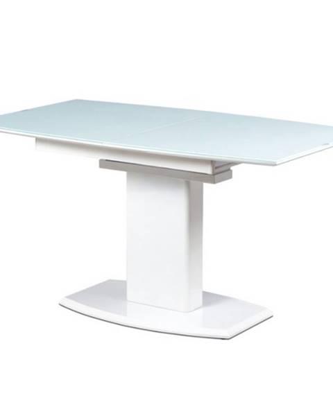 Sconto Jedálenský stôl s rozkladom MALAVA biela vysoký lesk