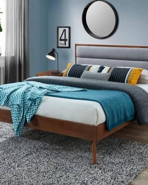 OKAY nábytok Posteľ Olivia 160x200, orech, vrátane roštu, bez matracov a ÚP