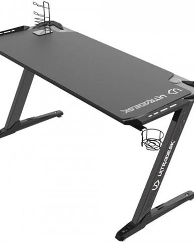 Herný stôl ULTRADESK SPACE XXL BLACK UDESK-SP-BX + ZDARMA podložka pod myš a hub