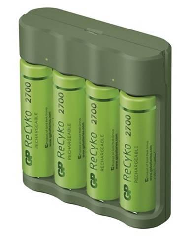 Nabíjačka batérií GP B52427U Everyday B421 + 4xAA ReCyko + USB