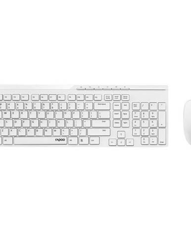 Klávesnica s myšou Rapoo X8100, CZ+SK layout biela