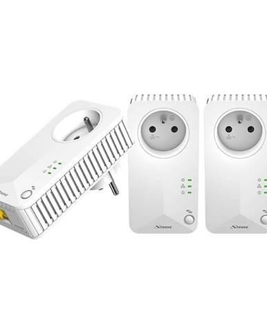 Sieťový rozvod LAN po 230V Strong 500 TRI FR biely