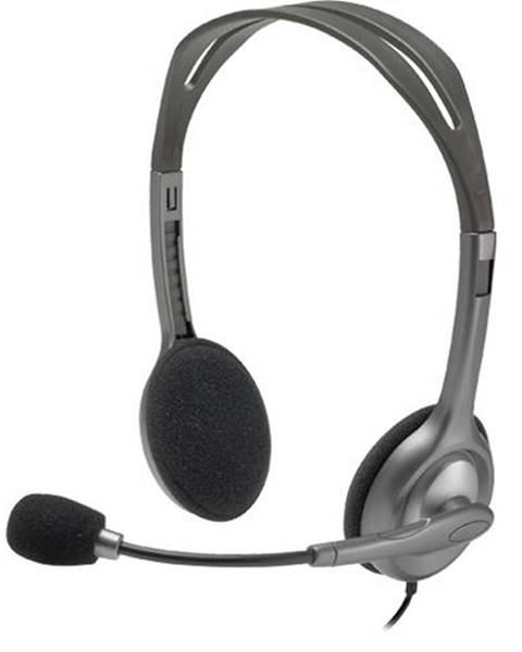 Logitech Headset  Logitech H111 sivý