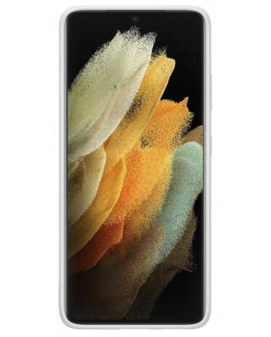 Kryt na mobil Samsung Silicone Cover na Galaxy S21 Ultra 5G sivý