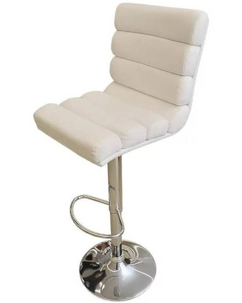 MERKURY MARKET Barová stolička Alpha biely