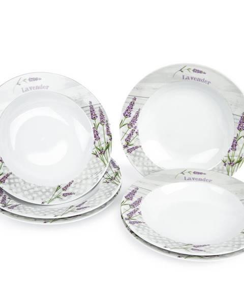 Toro Jedálenský tanier hlboký Levanduľa, 6 ks, 21,5 x 4, 590879