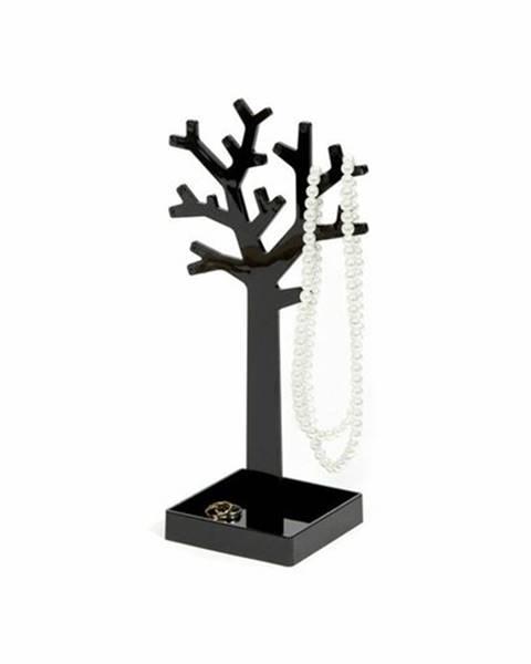 Compactor Stojan na šperky v tvare stromu Compactor - čierny plast
