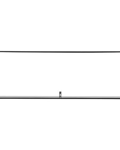 Čierna nástenná polica WOOOD Meert, dĺžka 100 cm