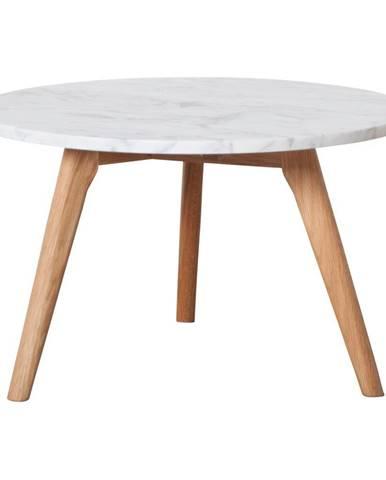 Odkladací stolík s doskou v dekore kameňa Zuiver, Ø50 cm