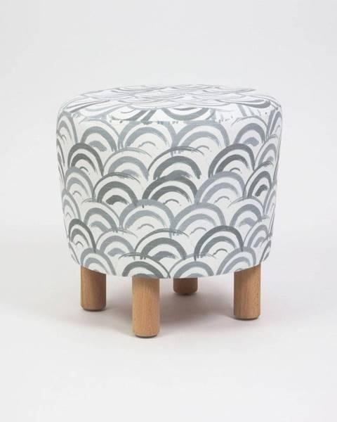 Homitis Taburet s drevenými nohami Cono Mimar, ⌀ 41 cm