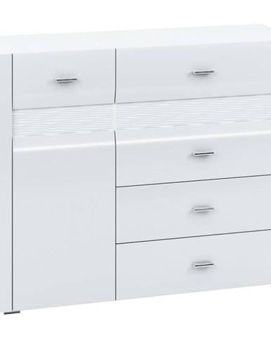 Komoda 119 Arko biela lesklá