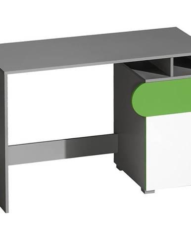Písací stôl Futuro F8 Zelená/Biely/Grafit