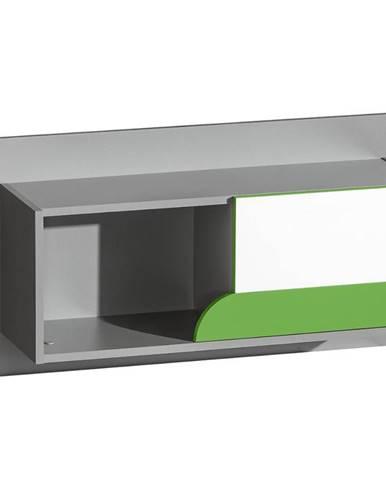 Polička Futuro F9 Zelená/Biely/Grafit