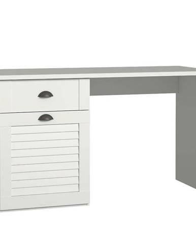 Písací stôl Marida 1D1S MDNB212ln biela