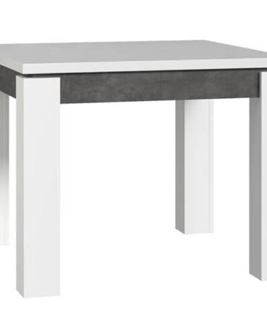 Stôl Brugia/Lenox EST45-C639 sivy/biely lesk