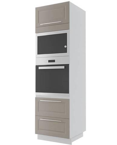 Kuchynská skrinka Emporium d14ru/2m -286 grey stone/kor.biela