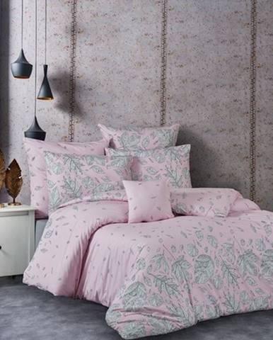 BedTex Bavlnené obliečky Hostid ružová, 140 x 200 cm, 70 x 90 cm