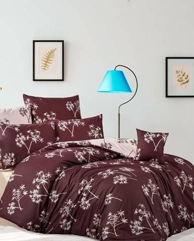 BedTex Bavlnené obliečky Idil burgundová, 220 x 200 cm, 2 ks 70 x 90 cm