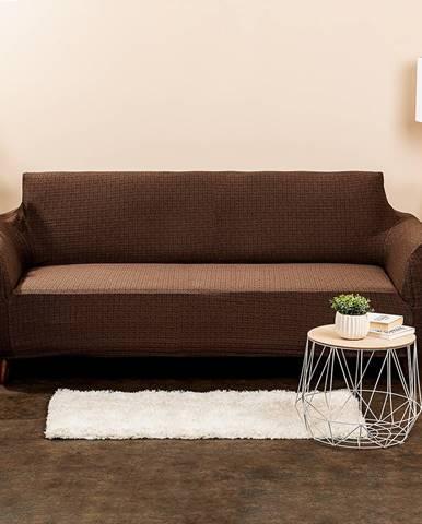 4Home Multielastický poťah na sedačku Comfort Plus hnedá, 180 x 220 cm, 180 - 220 cm