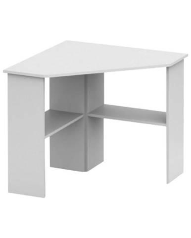 PC stôl rohový biela RONY NEW