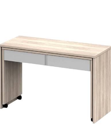 Rozkladací PC stôl so šuplíkmi dub sonoma/biela VERSAL NEW