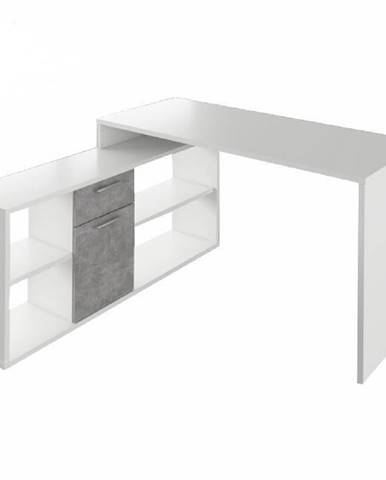 PC stôl biela/betón NOE NEW