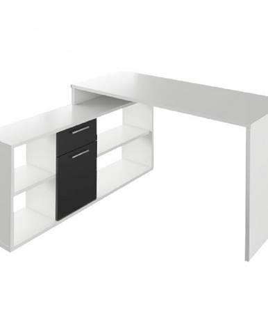 PC stôl biela/čierna NOE NEW