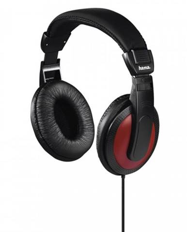 Slúchadlá cez hlavu Hama Basic4Music, čierne/červené