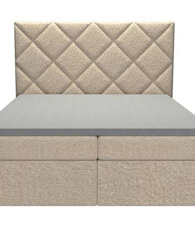 Posteľ Reja 160x200 Monolith 04 s vrchným matracom