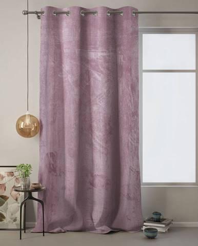 Ružový záves AmeliaHome Velvet, 140x270cm