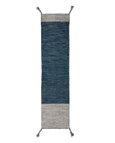 Modrý vlnený behúň Flair Rugs Anu, 60 x 200 cm