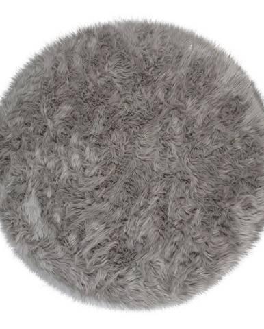 Sivý koberec Flair Rugs Sheepskin, ⌀ 120 cm