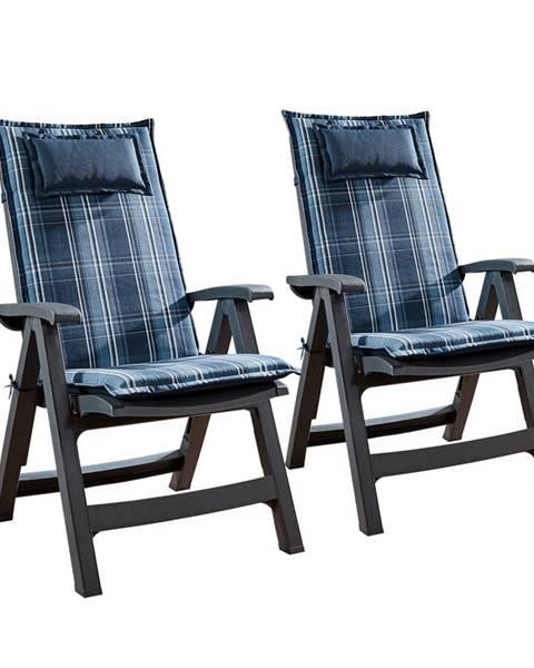 Blumfeldt Blumfeldt Donau, čalúnená podložka, podložka na stoličku, podložka na vyššie polohovacie kreslo, na záhradnú stoličku, polyester, 50 × 120 × 6 cm