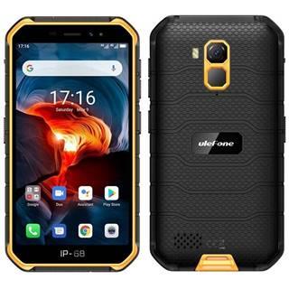 Mobilný telefón UleFone Armor X7 PRO čierny/oranžový