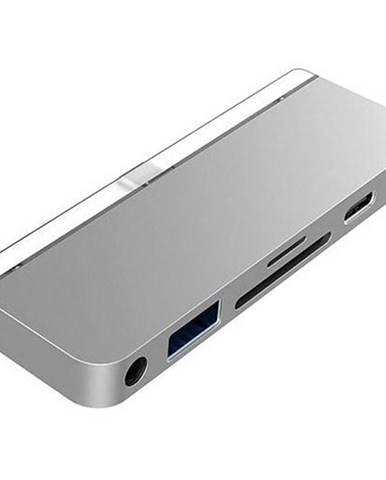 USB Hub HyperDrive 6-in-1 USB-C Hub pro iPad Pro strieborný