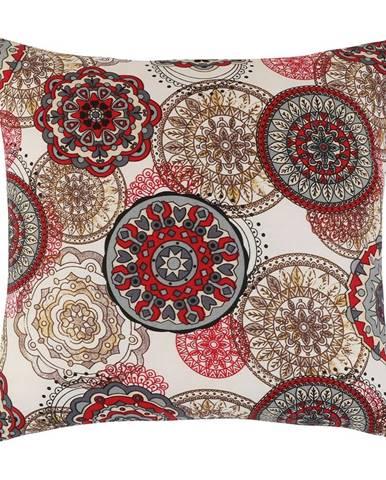 Bellatex Vankúšik Adela Mandala červená, 40 x 40 cm