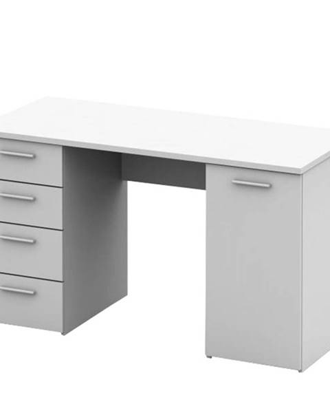 Tempo Kondela Písací stôl biela EUSTACH